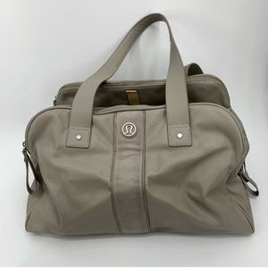 LULULEMON two times a yogi gray gym bag